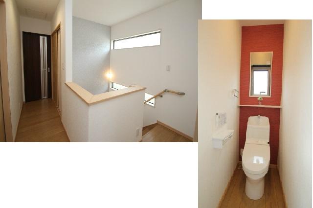 タテ2枚 2階廊下とトイレ