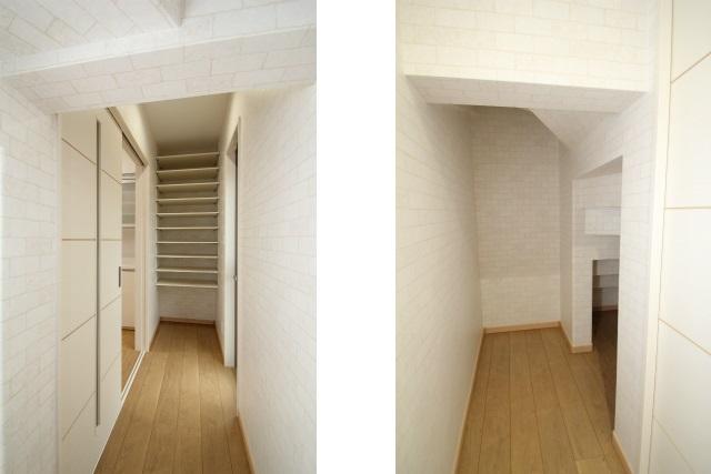タテ2枚 廊下と階段下収納