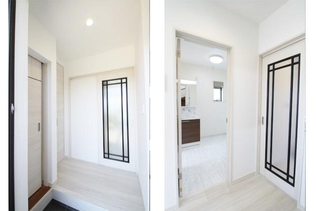 タテ2枚 玄関ホール&洗面入口