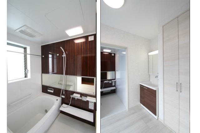 タテ2枚 2F浴室&洗面室