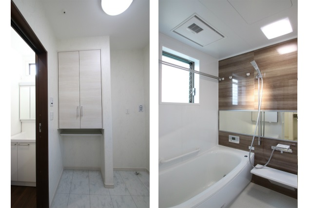 タテ2枚 脱衣室&浴室
