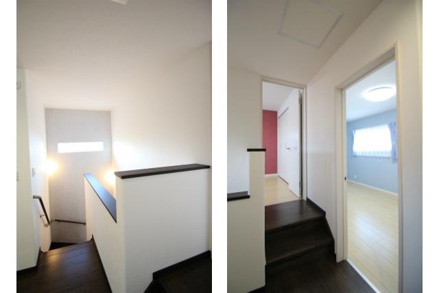 タテ2枚 2階階段室