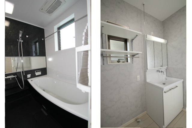タテ2枚 浴室洗面