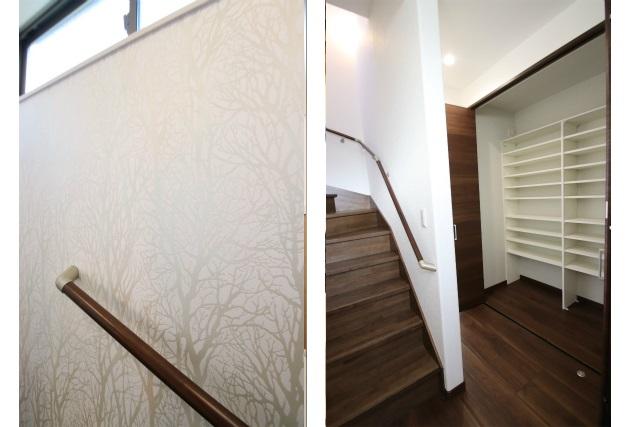 タテ2枚 階段室&廊下収納