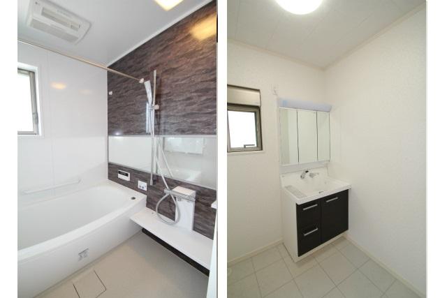 タテ2枚 浴室&洗面室
