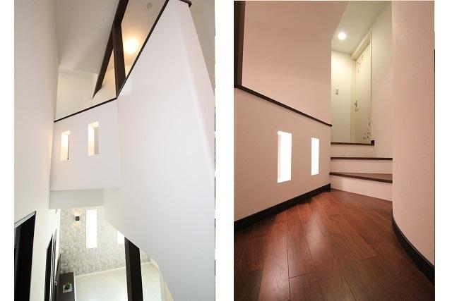 タテ2枚 階段廊下
