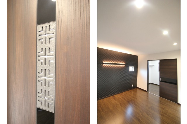 タテ2枚 主寝室 ドア&照明