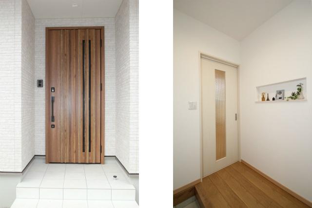 タテ2枚 玄関ト゛ア 玄関ホール