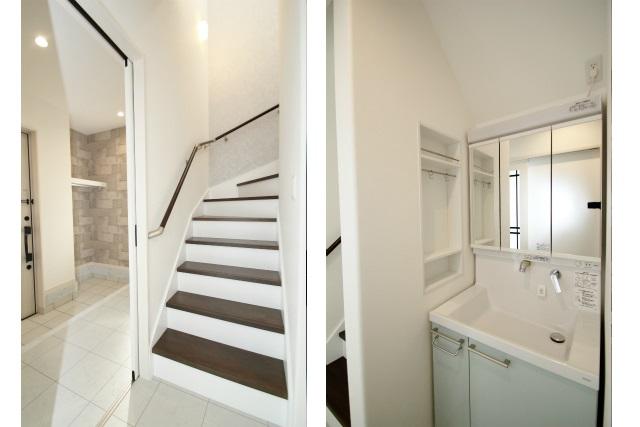 タテ2枚 階段&洗面台
