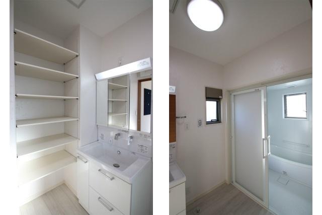 タテ2枚 洗面室&バスルーム