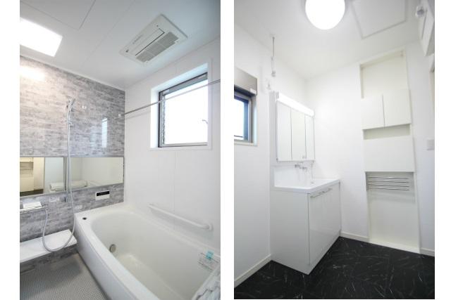 タテ2枚 浴室&洗面所