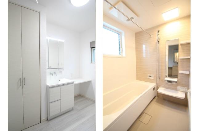 タテ2枚 2F洗面室&バスルーム