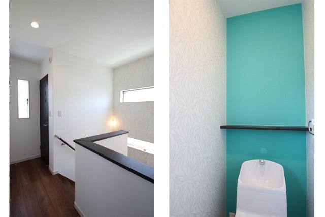 タテ2枚 階段ホール&2Fトイレ