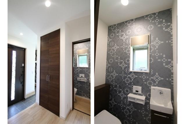 タテ2枚 玄関ホール&1Fトイレ