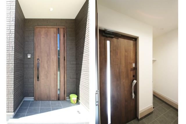 タテ2枚 玄関ドア