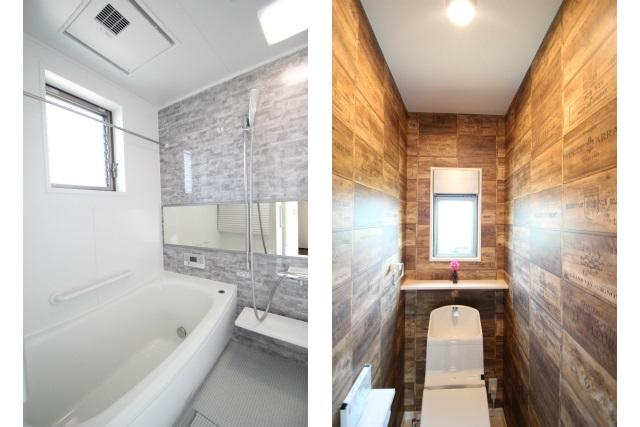 タテ2枚 2Fバスルーム&トイレ