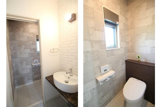 タテ2枚 1F手洗い&トイレ
