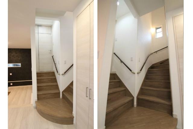 タテ2枚 中二階への階段