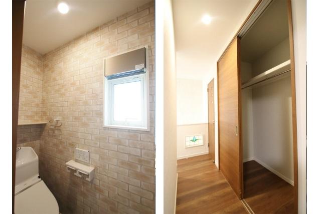 タテ2枚 2階トイレ&廊下ファミリークローゼット