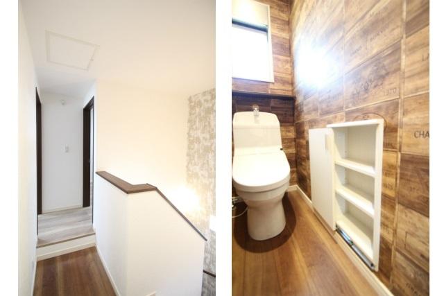 タテ2枚 2階ホール&トイレ