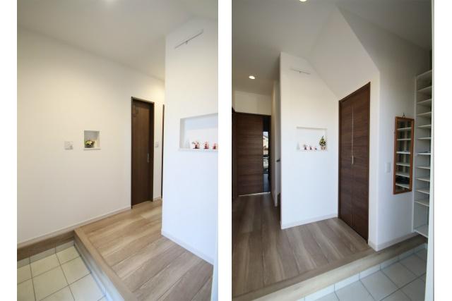 タテ2枚 玄関ホール