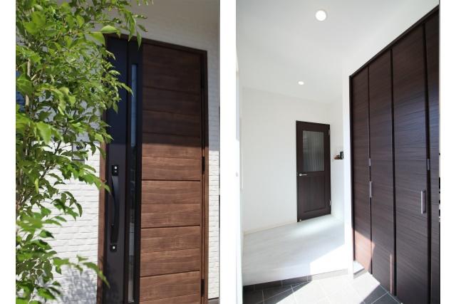 タテ2枚 玄関ドア ホール